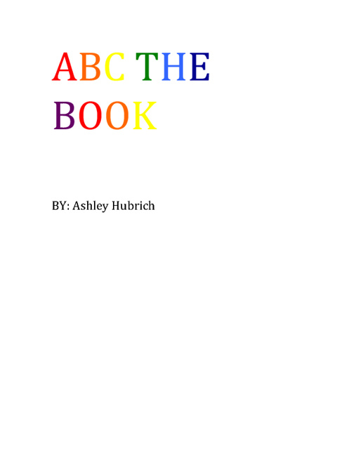 ABC THE BOOK