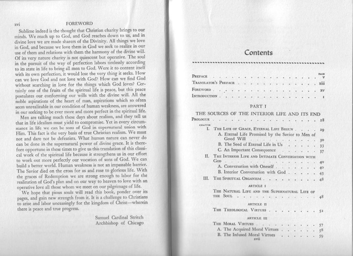 The Three Ages of the Interior Life (bibliography & index) - Gar
