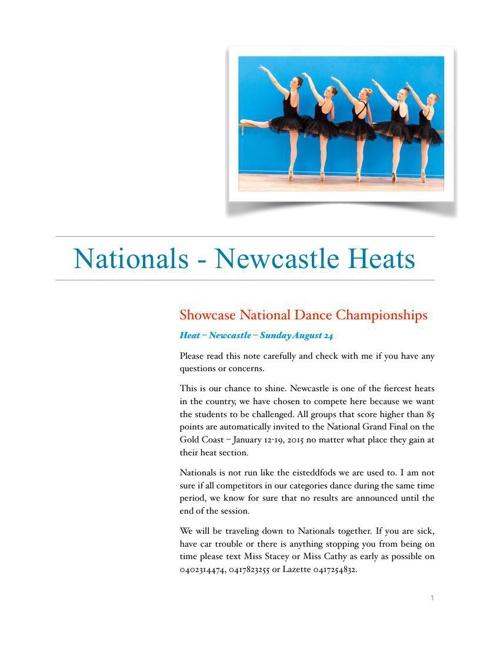 WPMPA 2014 Nationals Heat Handbook