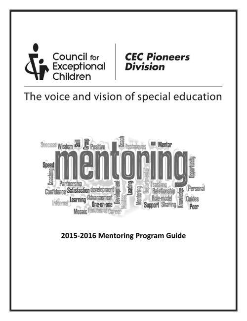 2015-2016 CECPD Mentoring Program Booklet
