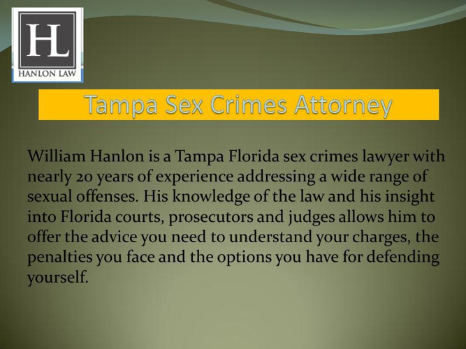 Tampa Sex Crimes Attorney