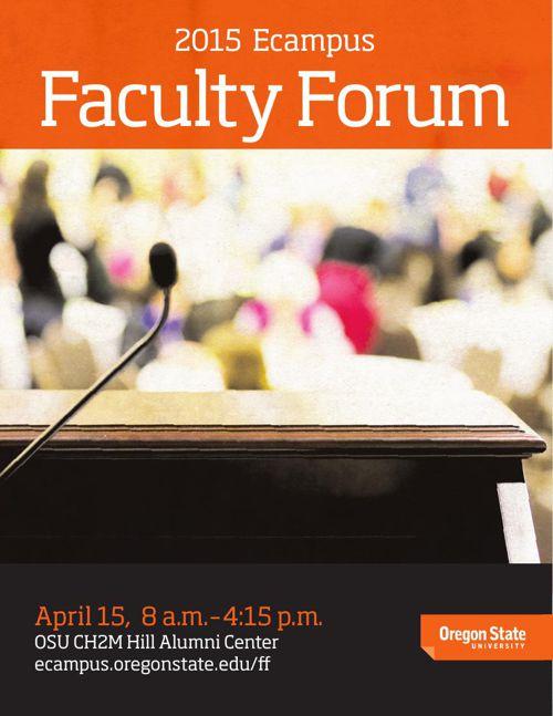 Oregon State University Faculty Forum 2015 Program