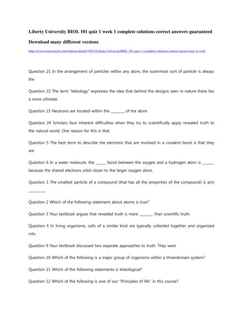 """theo 201 quiz1 study guide Quiz 1 study guide theo 201 (6 pages 