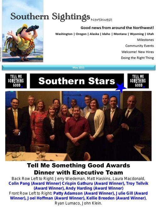 Southern Sightings May.2015