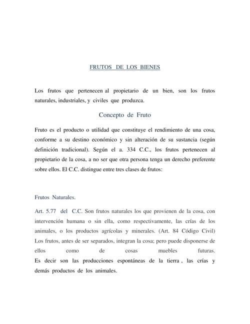 FRUTOS  DE  LOS  BIENES