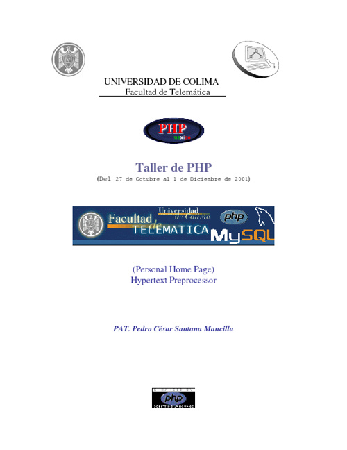 Taller de PHP con Santana Mancilla