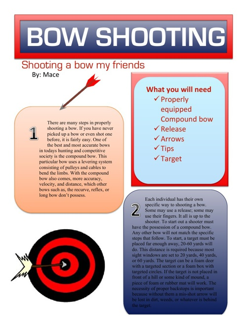 Shooting a Bow