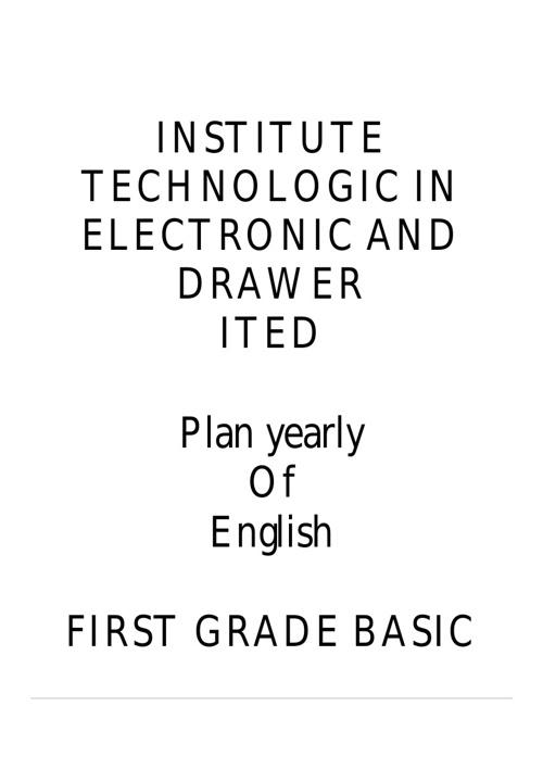 plan yearly of English