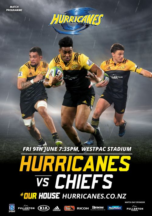 Official match programme for Hurricanes v Chiefs