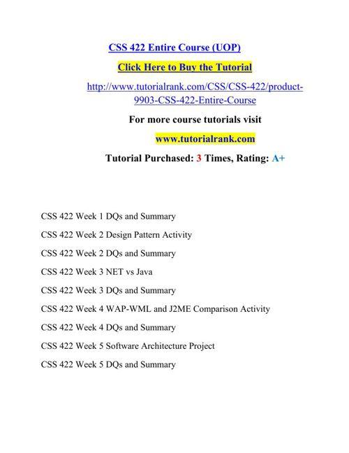 CSS 422 Potential Instructors/tutorialrank