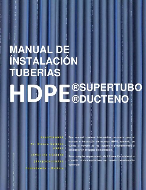 Manual de Instalacion HDPE