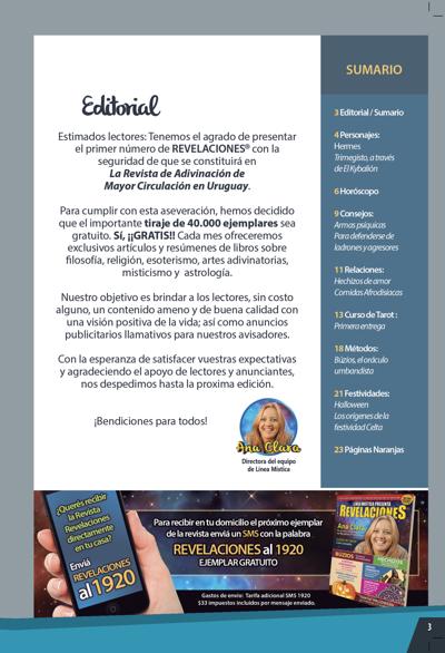Presentación Numero 1 - Revista Revelaciones