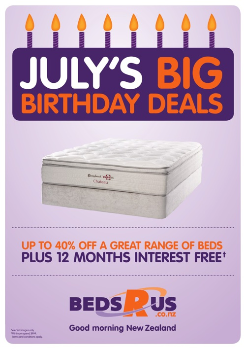 Beds R Us July Promotion