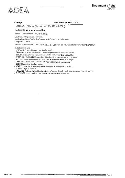 Dernières acquisitions d'ouvrages en sciences sociales - 09-2011