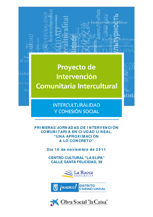 I Jornada de Intervención Comunitaria en Ciudad Lineal