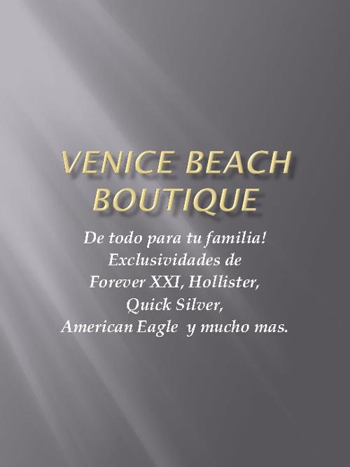 Venice Beach Boutique