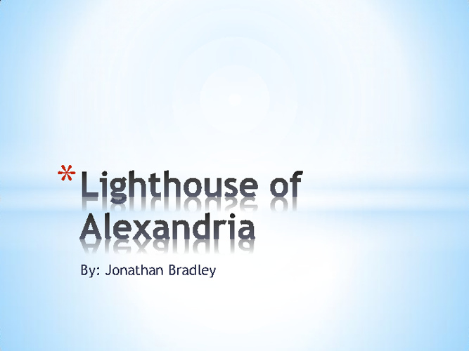 light house of alexandria