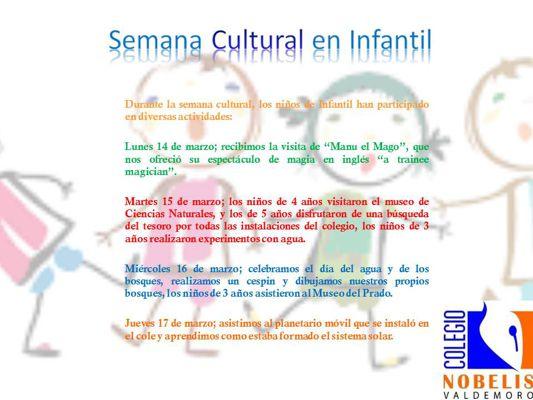 Semana Cultural en Infantil