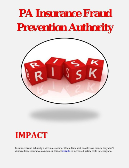 PA Insurance Fraud Prevention Authority: IMPACT