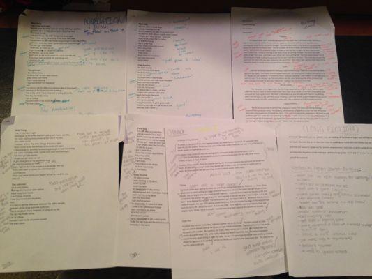 First Drafts & Edits
