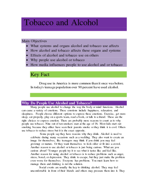 Acohol & Tobacco