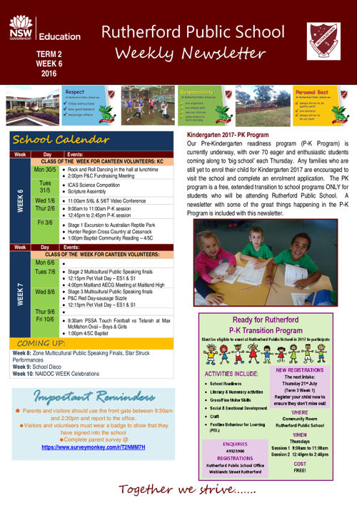 Newsletter Week 6 Term 2 2016