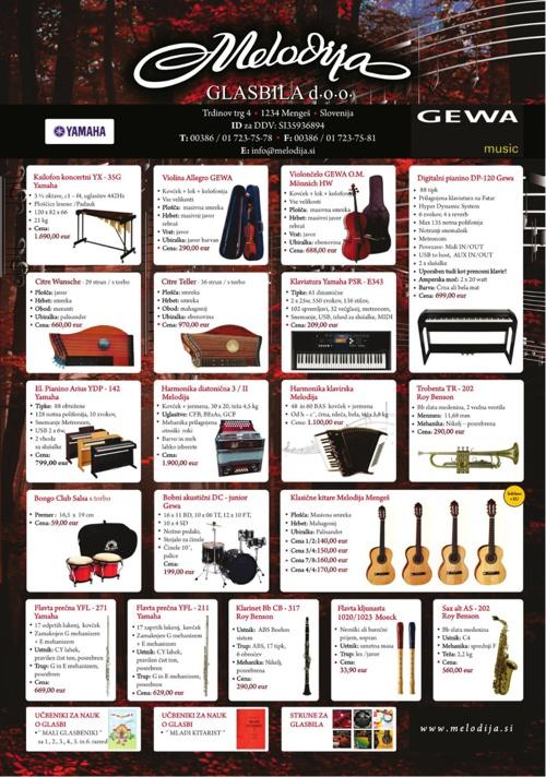 Melodija glasbila katalog
