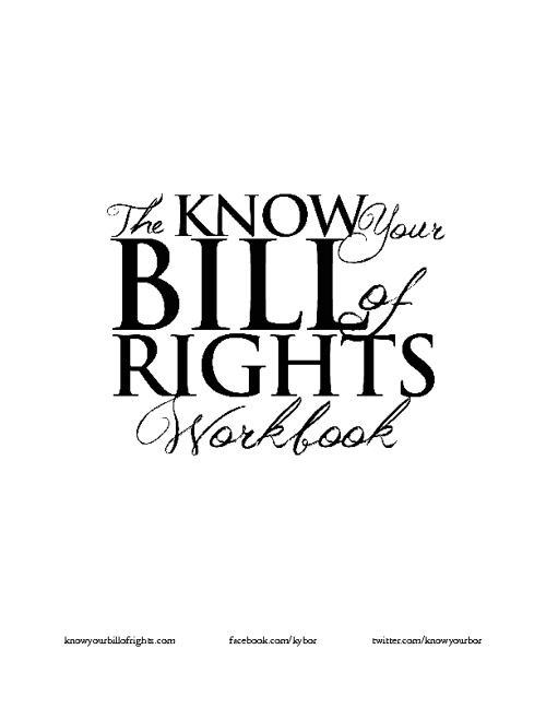 Know Your Bill of Rights Free Preview