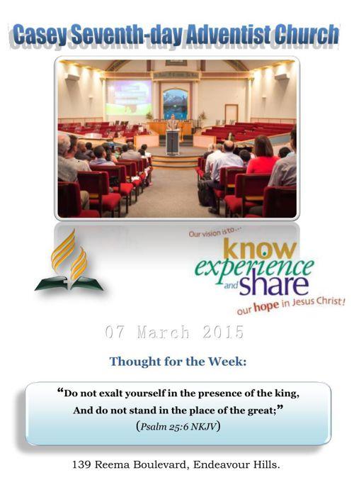 Church Bulletin 12050_2015 (SABBATH 7th March 2015)