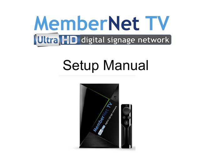 MemberNet TV Ultra Users Guide