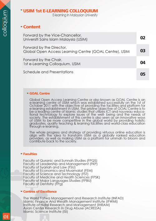 USIM E-Learning Colloquium Program Book