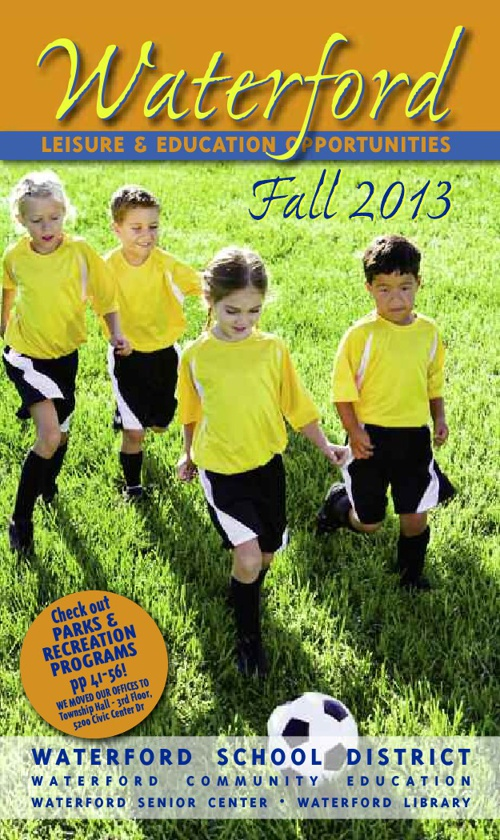 Waterford Leisure & Education Opportunities Fall 2013