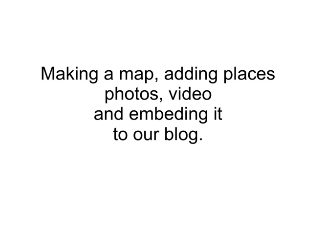 Make and embed a new Google Map