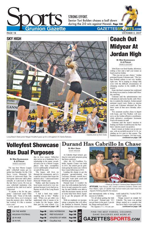 Gazette Sports 10-5-17