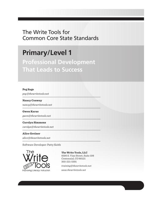 Write Tools Primary Writing