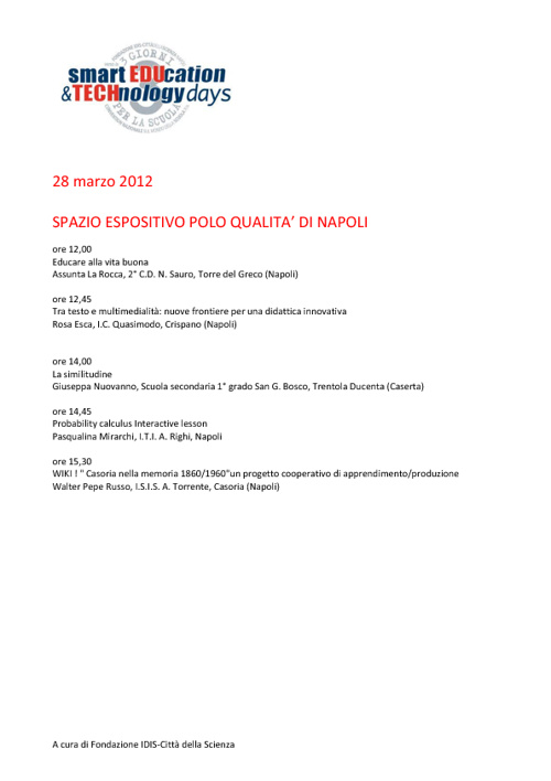 "Copy of ""Smart education & technology days – Educazione & Tecnol"