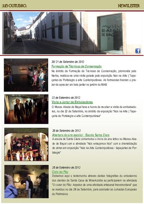 Newsletter 1-15 Outubro 2012