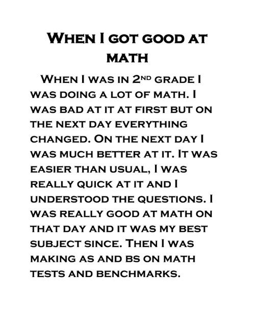 When I Got Good At Math by Matthew