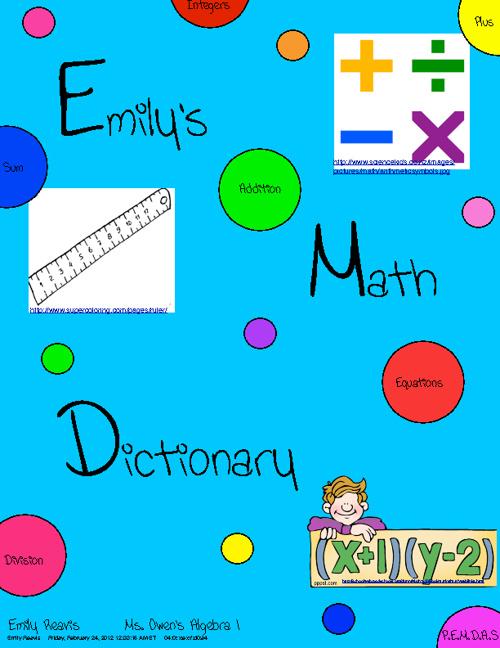 Emily's Math Dictionary
