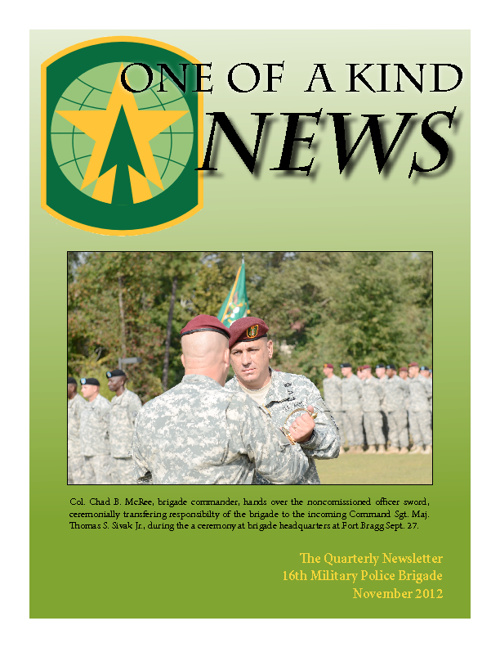One of a Kind News NOV12