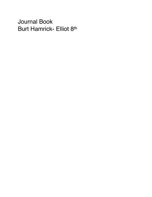 Journal book #1 - Burt Hamrick