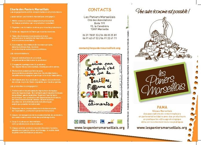 La charte des PAMA (PAniers MArseillais)