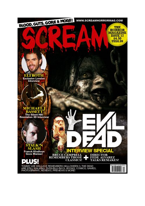 The Scream magazine cover has lots of conventional features that