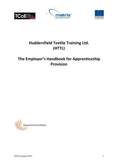 QR132 Employer Handbook August 2015