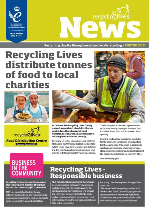 Recycling Lives Corporate News Winter 2015