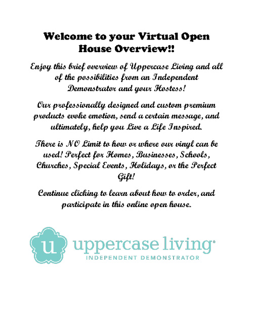 Open House Virtual Style!!