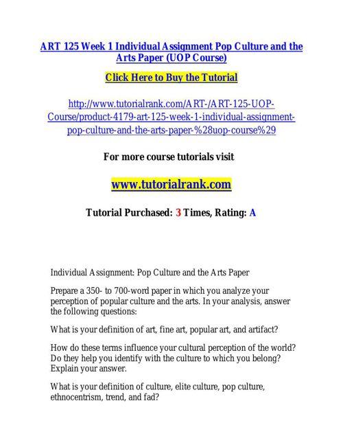 ART 125 Course Success Begins / tutorialrank.com