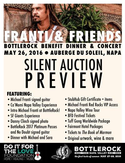 Do It For the Love BottleRock 2016 Silent Auction