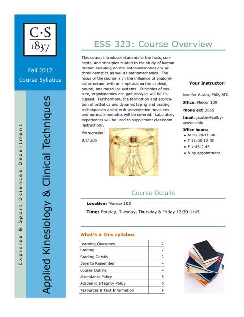 ESS 323 Course Syllabus F12
