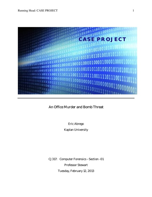 Computer Forensics: Case Project